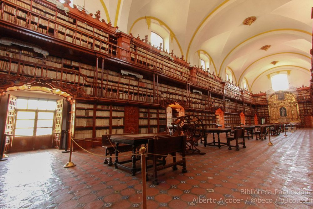 Biblioteca Palafoxiana, Puebla, Mexico (via b3co.com)