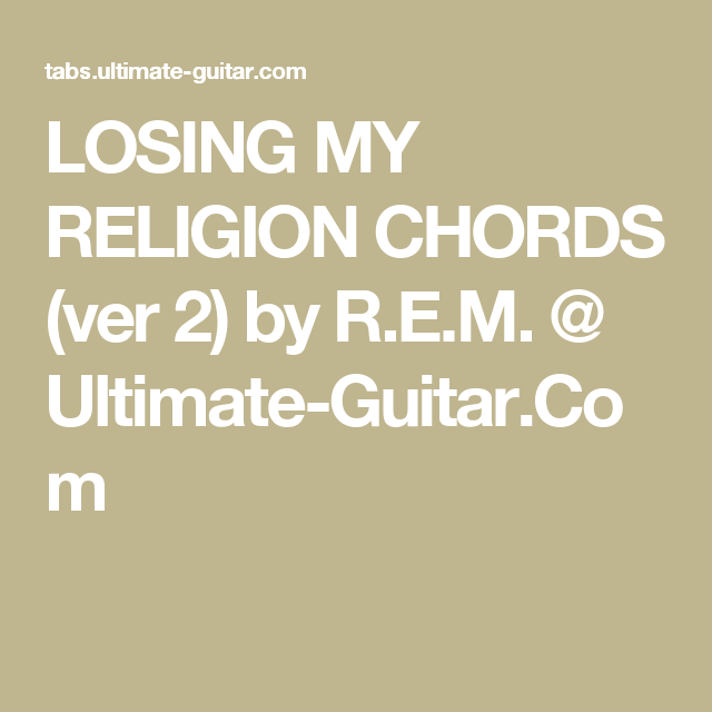 Losing My Religion Chords Mandolin Gallery Chord Guitar Finger