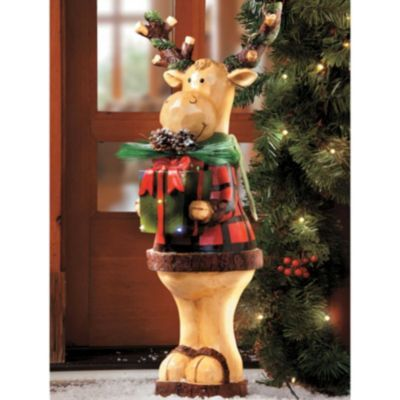 24\u0027 Standing Moose Christmas Decoration Christmas stuff