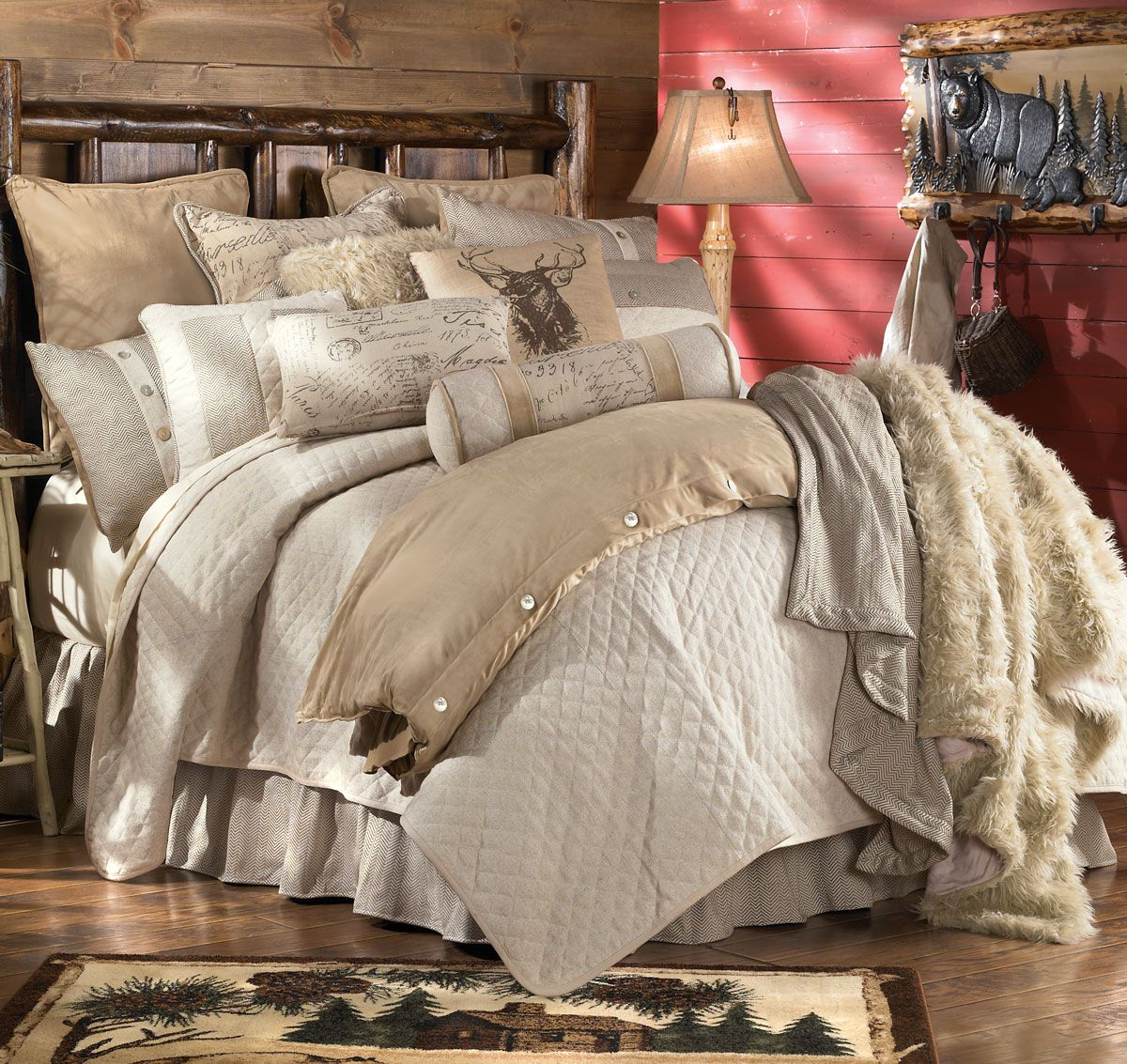 Fairfield Bed Set King Farmhouse Bedding Sets Rustic Bedding