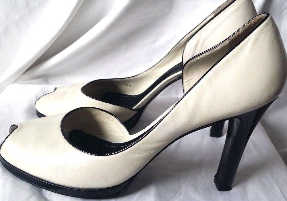 792c9fc2f15 Women s Lauren Ralph Lauren Ceciliana Cream Open Toe Leather Pumps Sz 10  Heels  RalphLaurenLaurenralphlauren  OpenToe  Casual