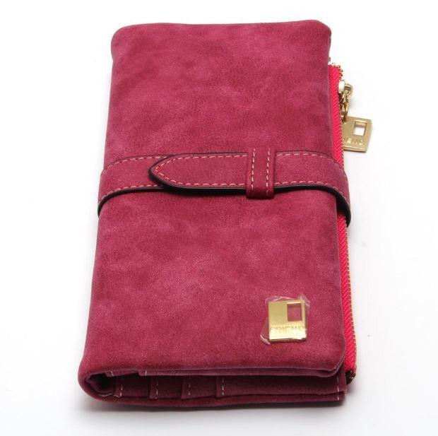 Luxusní dámská peněženka se zipem a místem pro karty a fotky – tmavě růžová  – SLEVA 70 % + POŠTOVNÉ ZDARMA Na tento produkt se vztahuje nejen zajímavá  sleva ... af74aee2a5
