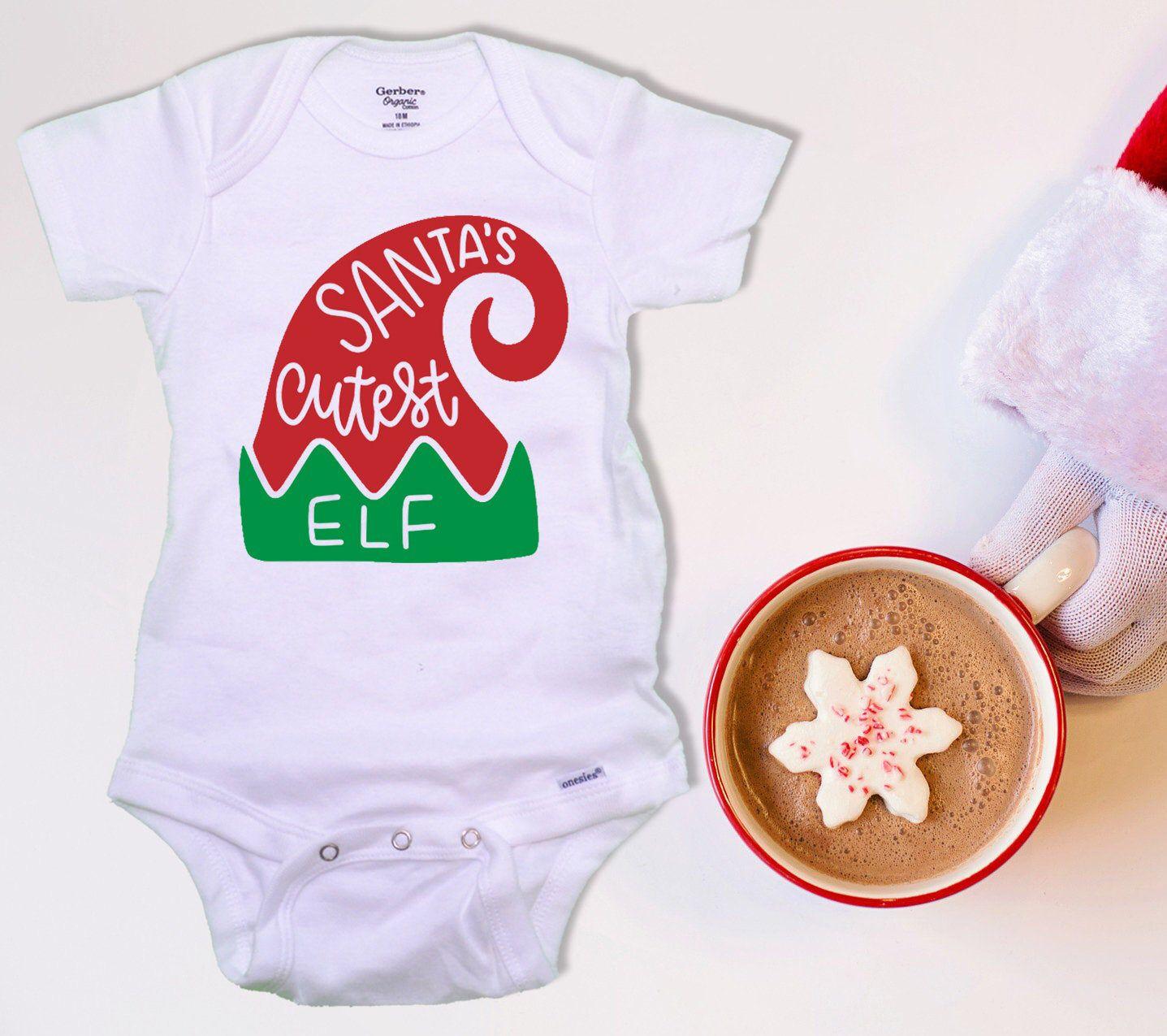 Santa/'s Favorite Elf Christmas Baby Bodysie
