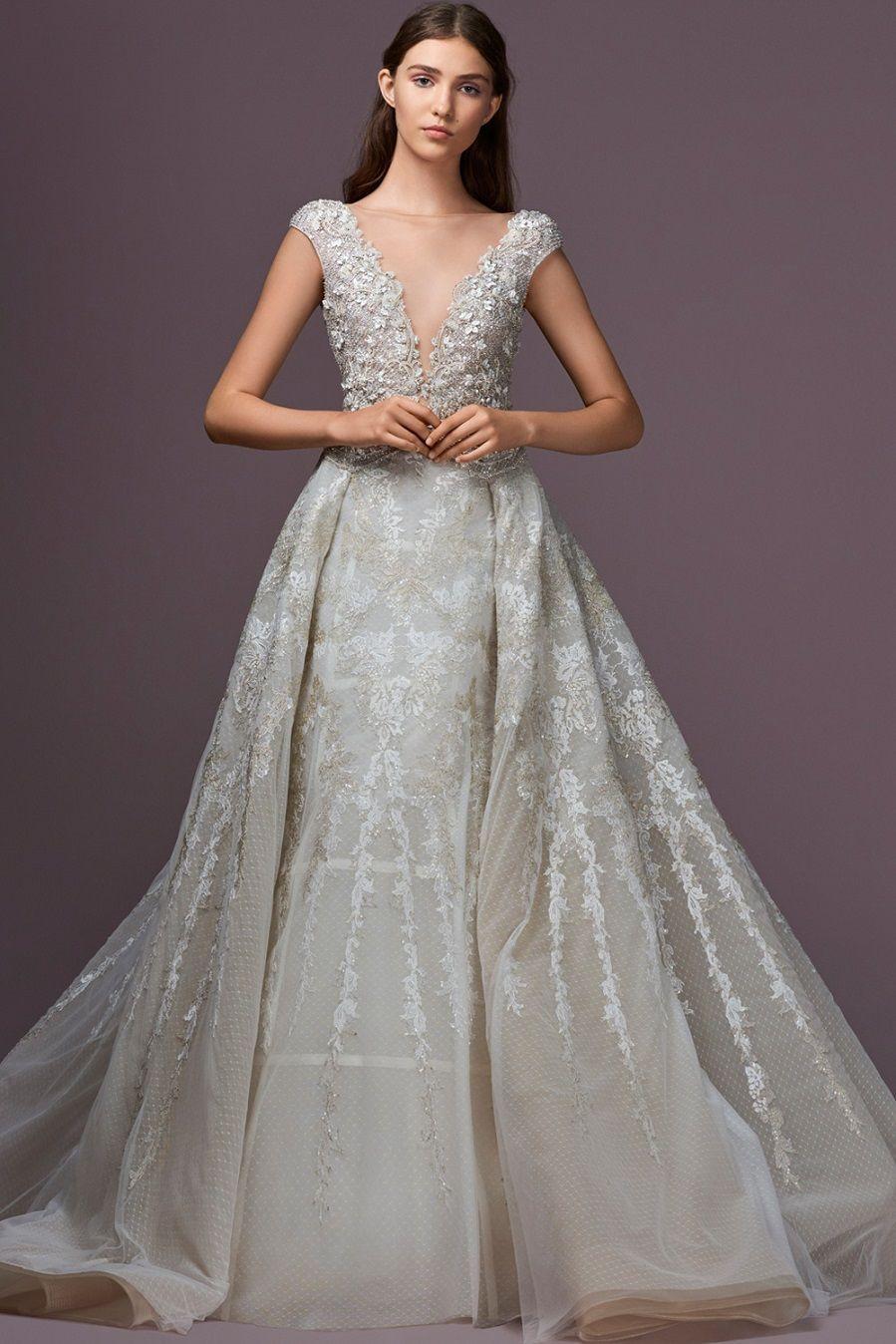 57 Stunning Wedding Dresses With Detachable Skirts 2nd