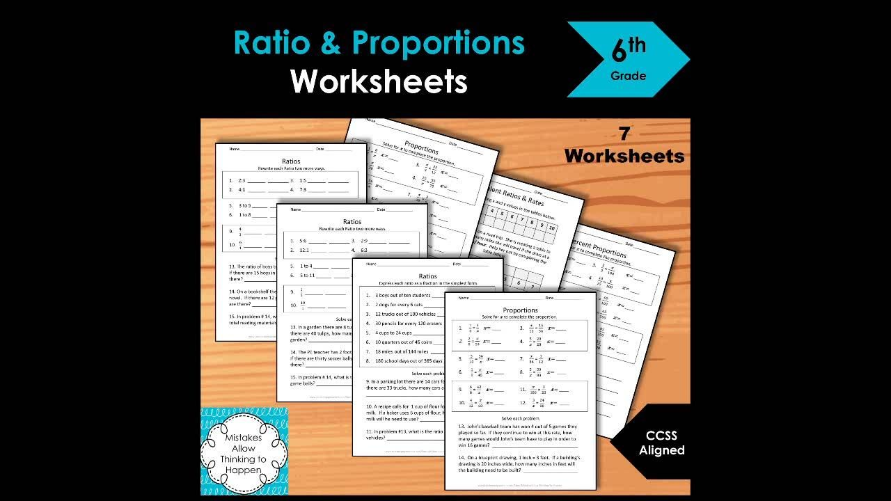 6th Grade Ratio And Proportions Worksheet Practice Set Video Video In 2020 Ratio And Proportion Worksheet Measurement Worksheets Proportions Worksheet