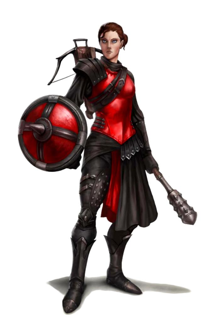 Female Half-Elf Cleric - Pathfinder PFRPG DND D&D d20 ...