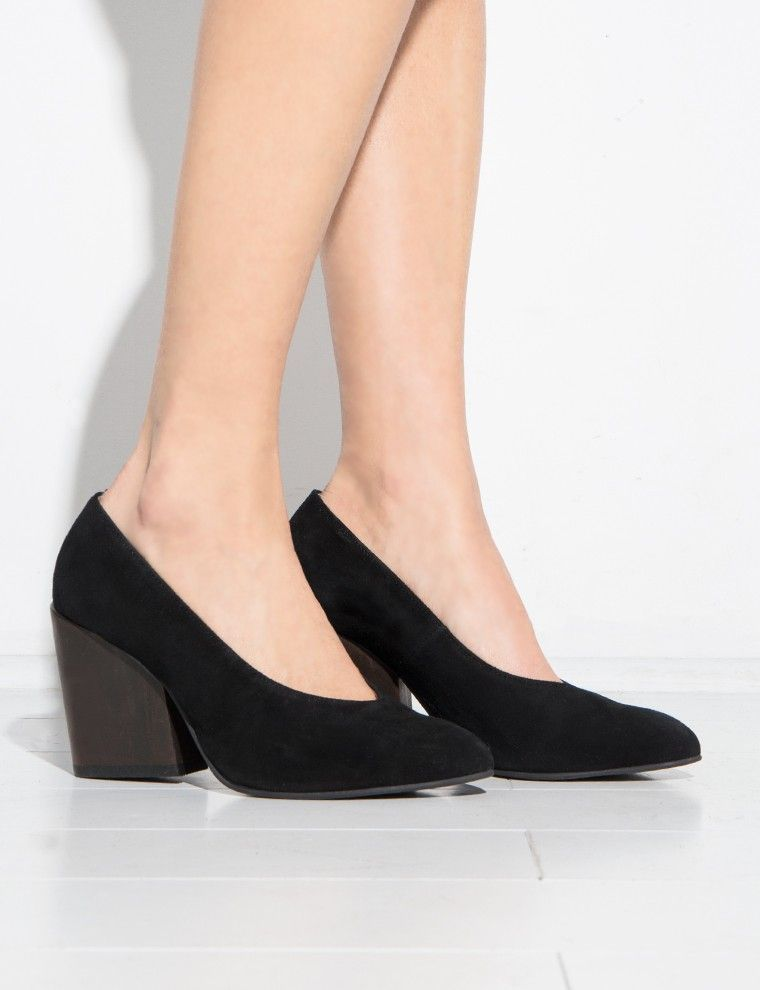 906ef693e16 Black Block Heel Pumps #fashion #pixiemarket | Back To Cool | Black ...