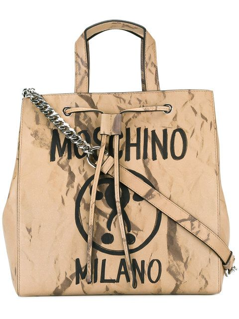MOSCHINO Question Mark Print Shoulder Bag. #moschino #bags #shoulder bags #hand bags #leather #