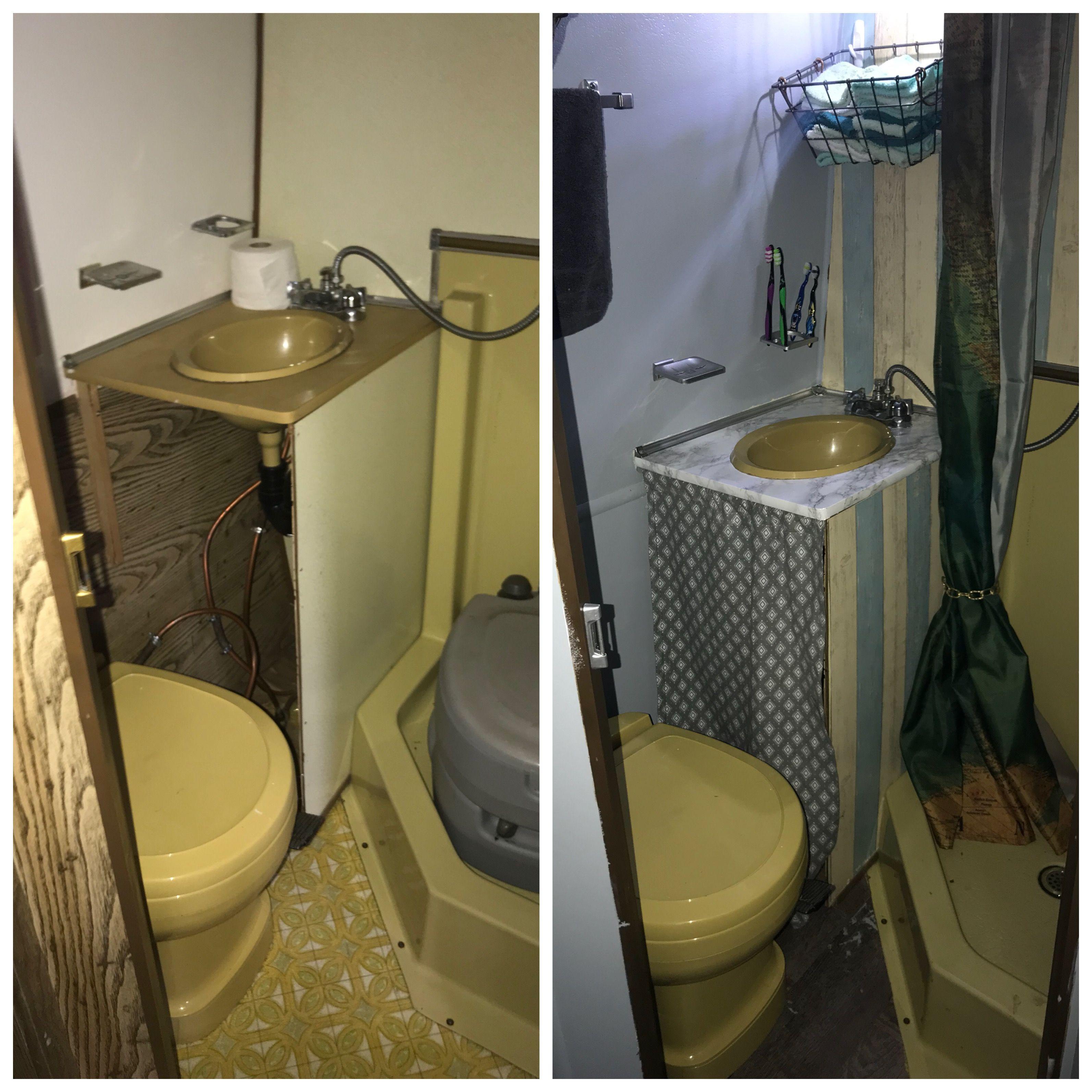 Rv Bathroom Upgrade Bathroom Small Bathroom Storage Bathroom Upgrades [ 3187 x 3187 Pixel ]