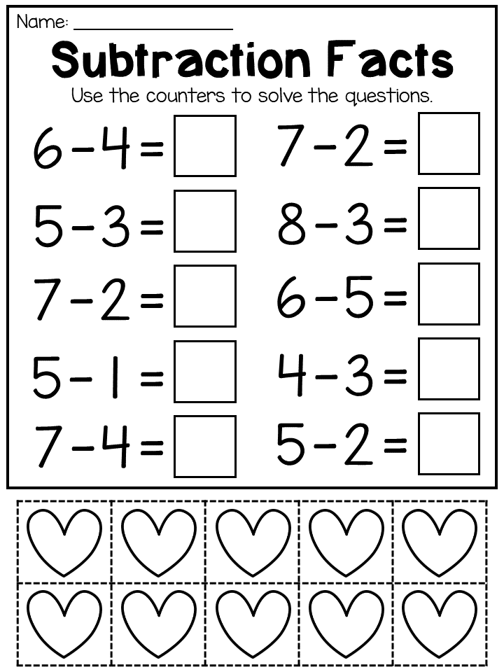 Addition And Subtraction Worksheets To 10 With Counters In 2020 Addition And Subtraction Worksheets Subtraction Worksheets Math Addition Worksheets