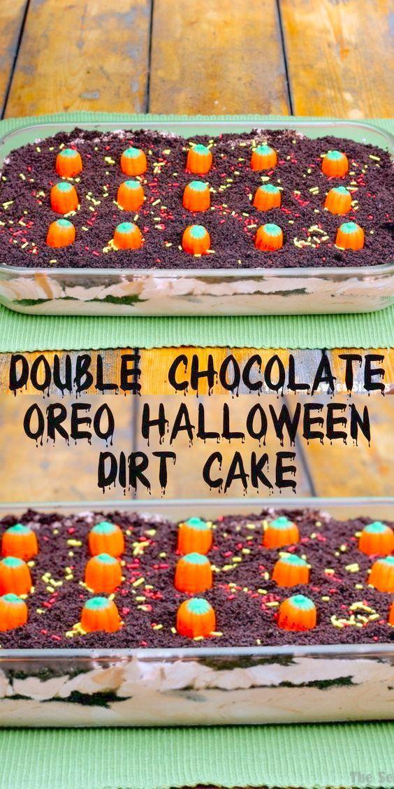 Halloween Double Chocolate Oreo Halloween Dirt Cake Recipe,  Halloween Double Chocolate Oreo Halloween Dirt Cake Recipe,