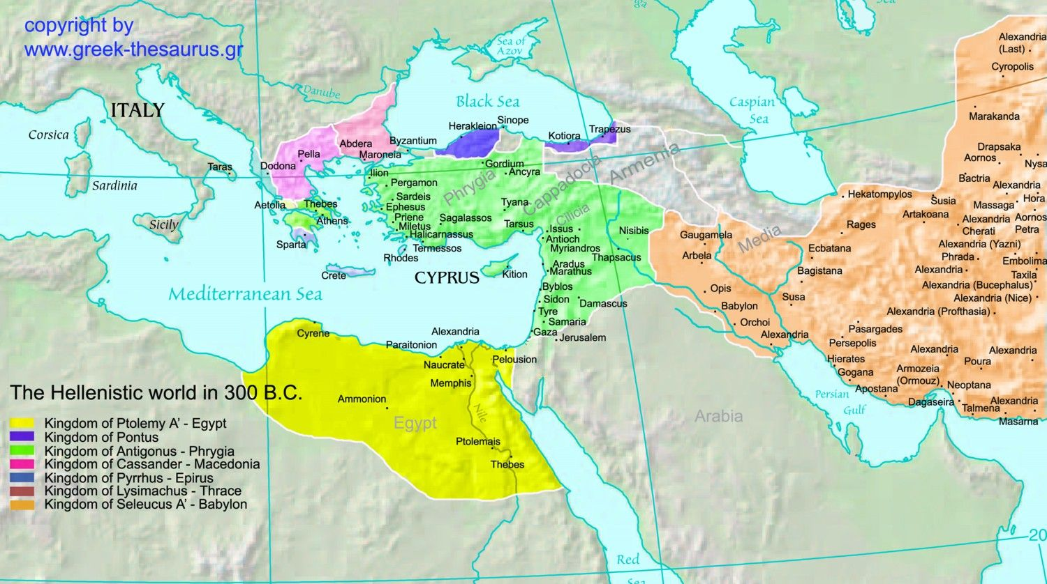 This Map Shows The Hellenistic World In 300 Bc It Shows A