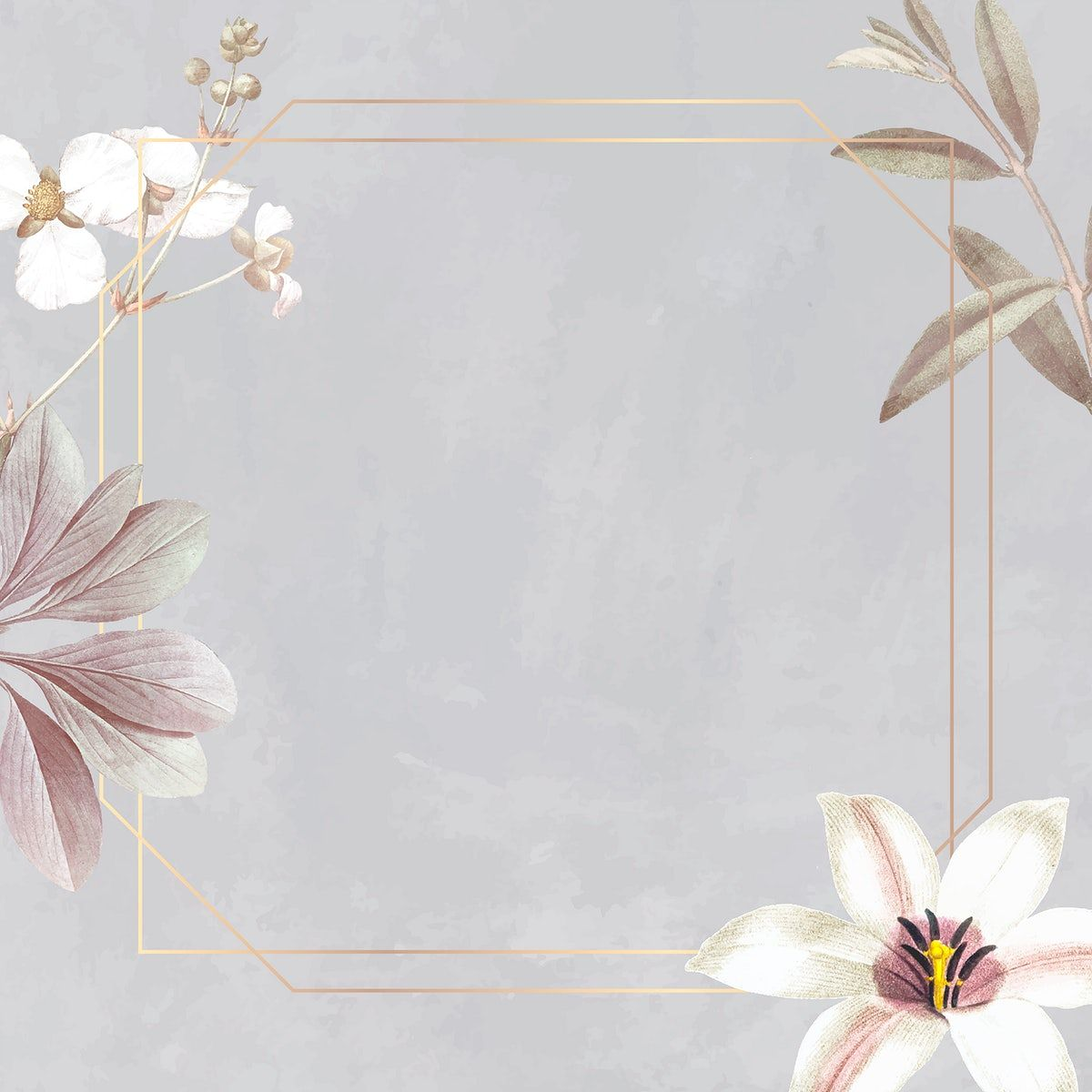 Download premium vector of Frame with lily and bulltongue