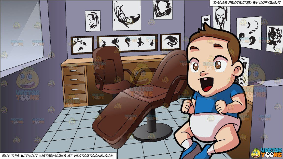 An Excited Little Boy and Inside The Tattoo Studio