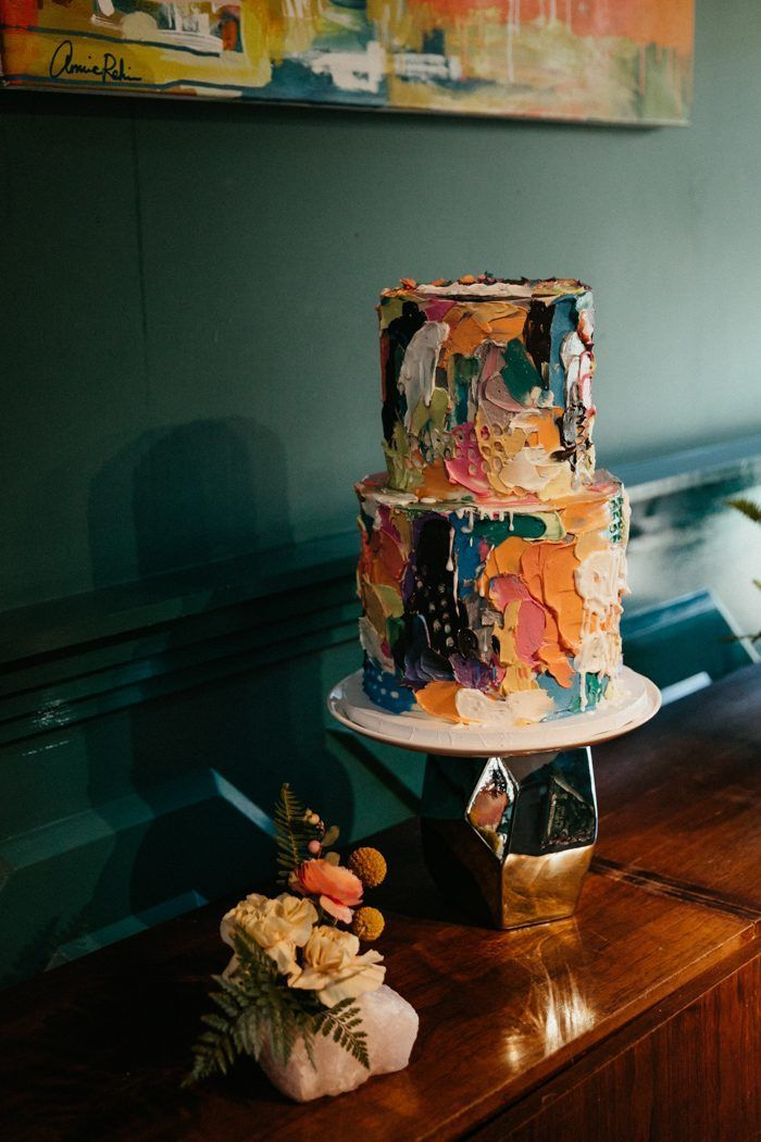 This Colorful Los Angeles Wedding at The Fig House is Filled with Mid-Century Vibes