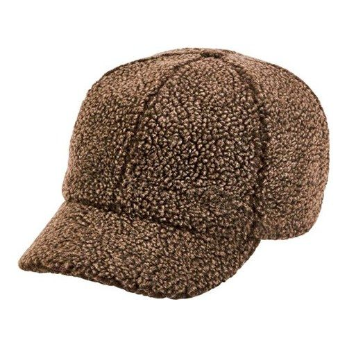 50492539 Women's San Diego Hat Company Washed Faux Sherpa Baseball Cap CTH8142 - Brown  Hats