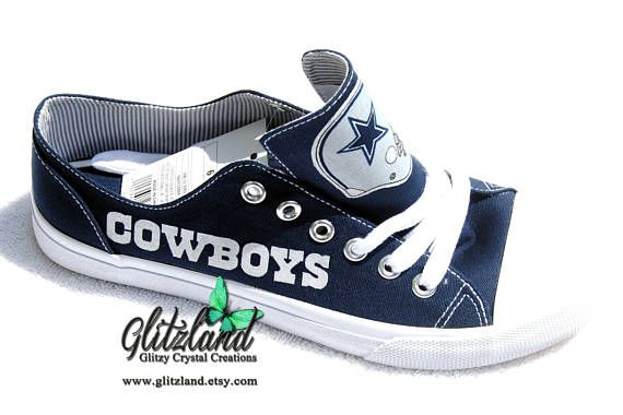 Dallas Cowboys Navy Canvas Low Tops Tennis Shoes