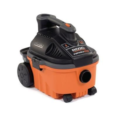 Ridgid 4 Gal 5 0 Peak Hp Portable Wet Dry Shop Vacuum With Fine Dust Filter Hose And Accessories Wd4070 Wet Dry Vacuum Wet Dry Vac Vacuums