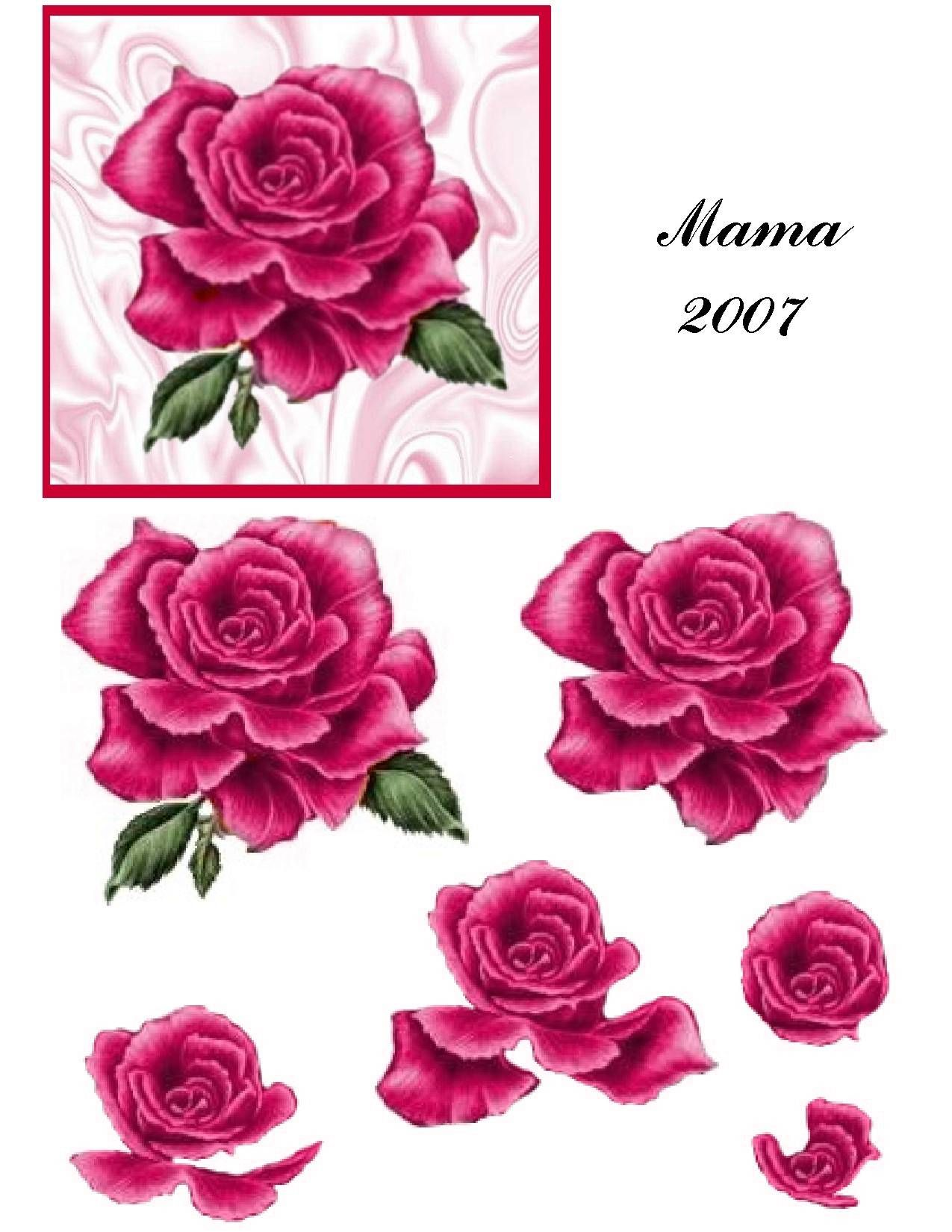 Rose On Satin Flower Printable Decoupage Paper Card Making Ideas Free Printables