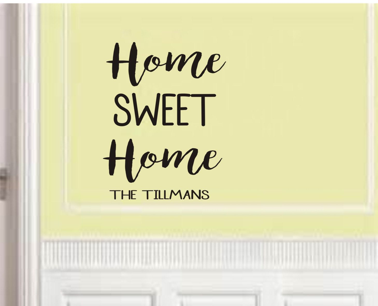 Home Sweet Home Personalized Wall Decal | Bedroom Wall Decal | Vinyl ...
