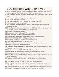 Image Result For 100 Reasons Why I Love You Reasons Why I Love