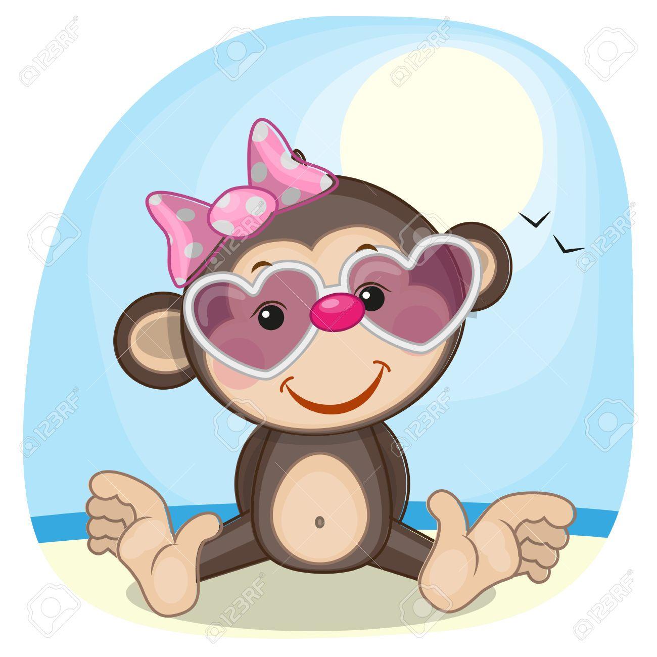 Resultado De Imagen De Imagenes De Monos Animados Monkey Illustration Cute Cartoon Wallpapers Cute Monkey