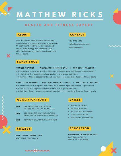 Colorful Geometric Shapes Creative Resume Resume Pinterest - resume edge