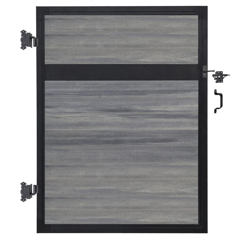 Veranda Euro Style 4 Ft W X 6 Ft H Oxford Grey Aluminum Composite Estate Adjustable Fence Gate Ef 63400 Spanish Style Homes Aluminium Gates Decorative Hinges
