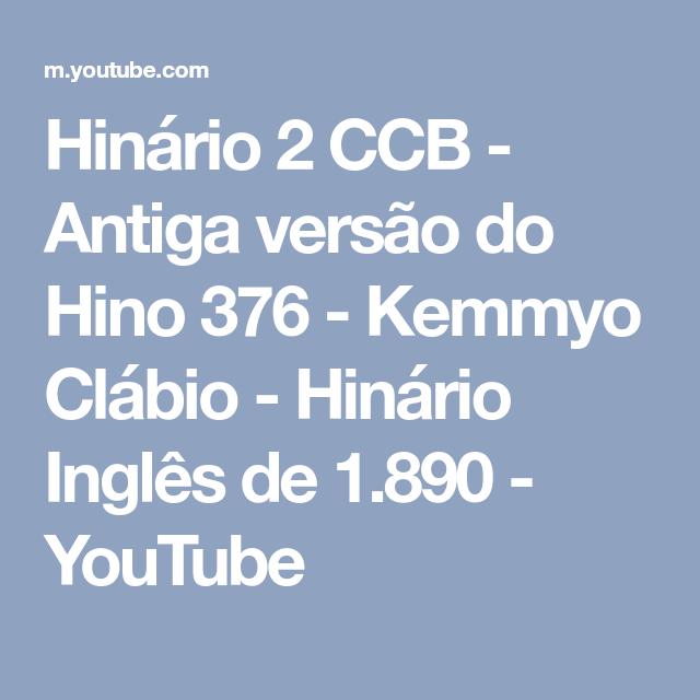 EM INGLES HINOS BAIXAR CCB CANTADOS