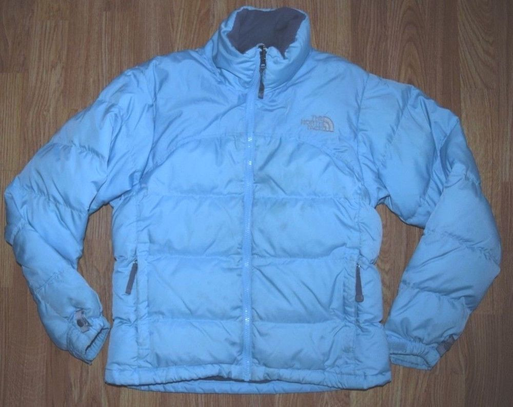 69212d222 THE NORTH FACE Nuptse Light Blue 700 Down Puffer Liner Jacket A254 ...