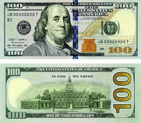 Insane image for printable 100 dollar bill actual size
