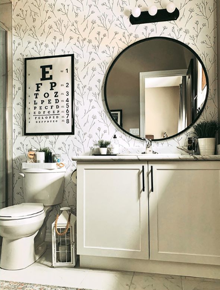 Twigs Peel And Stick Wallpaper Bathroom Wallpaper Bathroom Makeover Small Bathroom Wallpaper