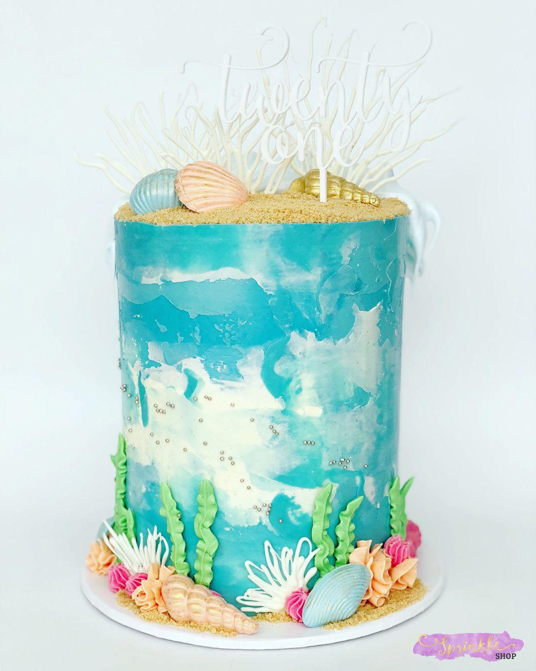 Beach Ocean Cake From Sprinkle Shop Sprinkle Shop Ocean Cakes
