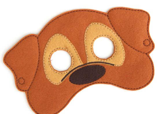 Kids Dog Mask Dog Costume Puppy Felt Mask Kids by BabyWhatKnots  sc 1 st  Pinterest & Kids Dog Mask Dog Costume Puppy Felt Mask Kids Face Mask Animal ...