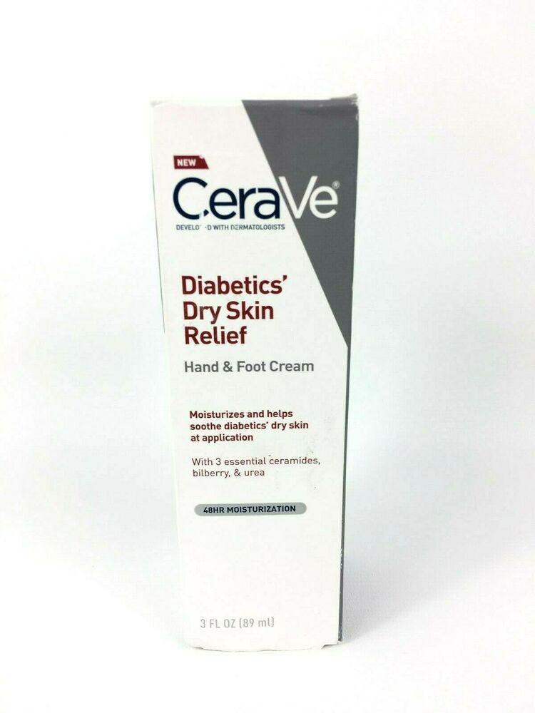 Cerave Diabetics Dry Skin Relief Hand Foot Cream 48hr