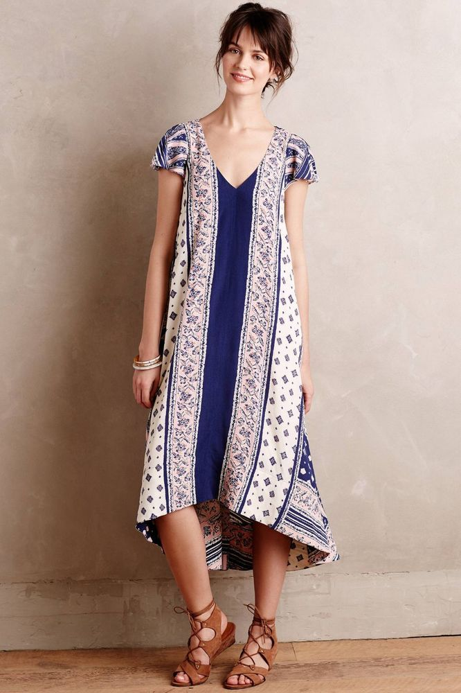 600a1377e6262 Anthropologie $158 Maeve Summertide Swing Dress NWOT Size XS #Maeve #Maxi  #Casual