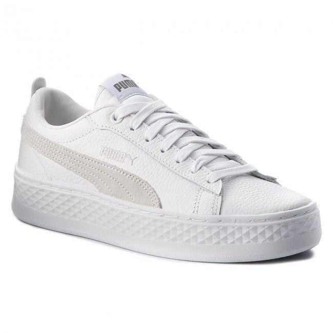ae06f50864ab4 Sneakersy PUMA - Smash Platform L 366487 06 Puma White/Puma White/White