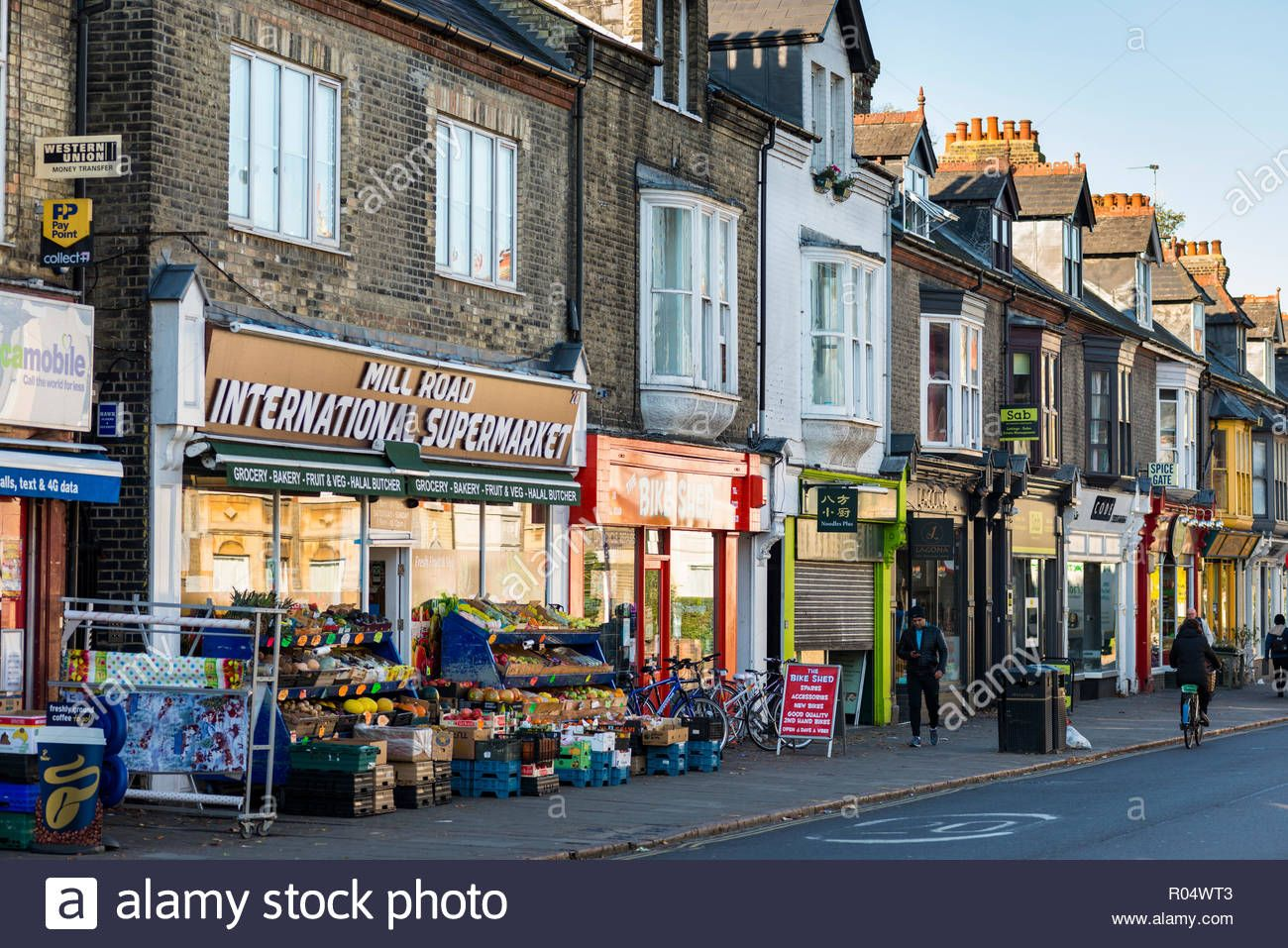 Download This Stock Image Mill Road Is One Of Cambridge S Most Vibrant Destinations With Independent Cafes Quirky Shops An Grocery Store Stock Photos Grocery