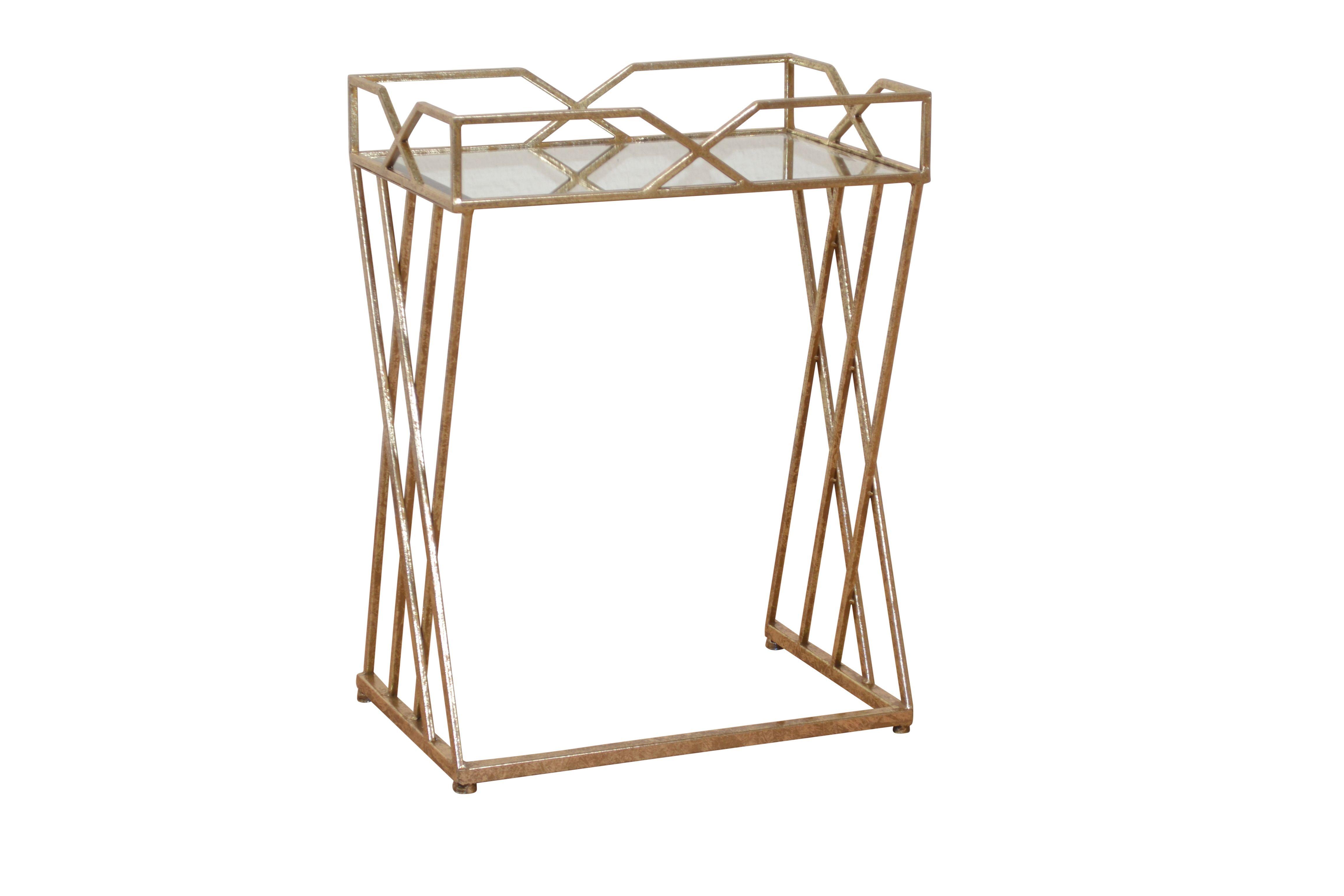 beistelltisch antik goldfarben woody 193-00036 metall modern jetzt, Wohnzimmer dekoo