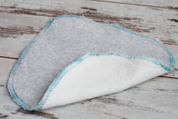 Double Sided Cloth Wipes Set of 5  Cotton Velour & by CyanSeaShop, $15.00