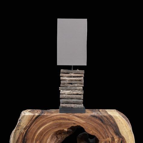 Lampe De Table Nature Avec Petites Buches Artemano Table Lamp Wood Lamp Decorative Table Lamps
