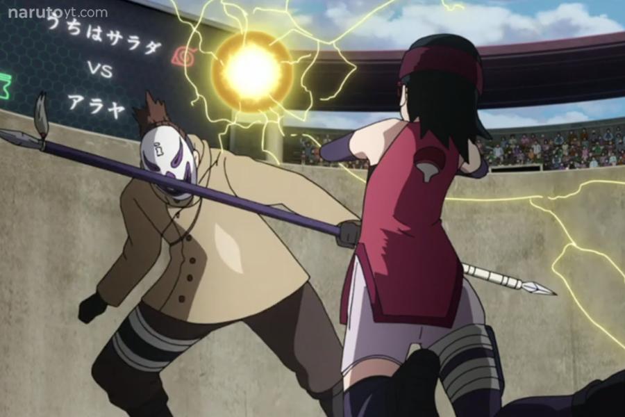 Sarada vs Araya Boruto, Naruto, Season 1
