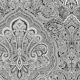 From Black White 2 Is A Cm Wide Wallpaper With Paisley Damask Pattern In And This Collection Patton Prepasted Solid Vinyl