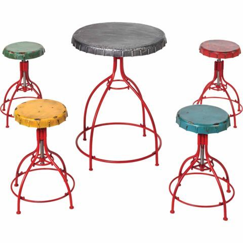 Red Shed 5 Piece Bottle Cap Table And Stool Set Tractor .
