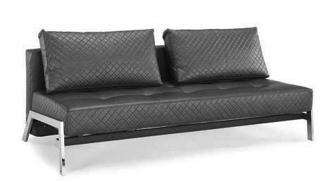 Denmark Marquee Convertible Sofa Bed Black By Lifestyle
