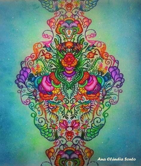 Inspirational Coloring Pages by Ana Claudia Souto #inspiração #coloringbooks #livrosdecolorir #jardimsecreto #secretgarden #florestaencantada #enchantedforest #reinoanimal #animalkingdom #adultcoloring #johannabasford #lostocean #oceanoperdido