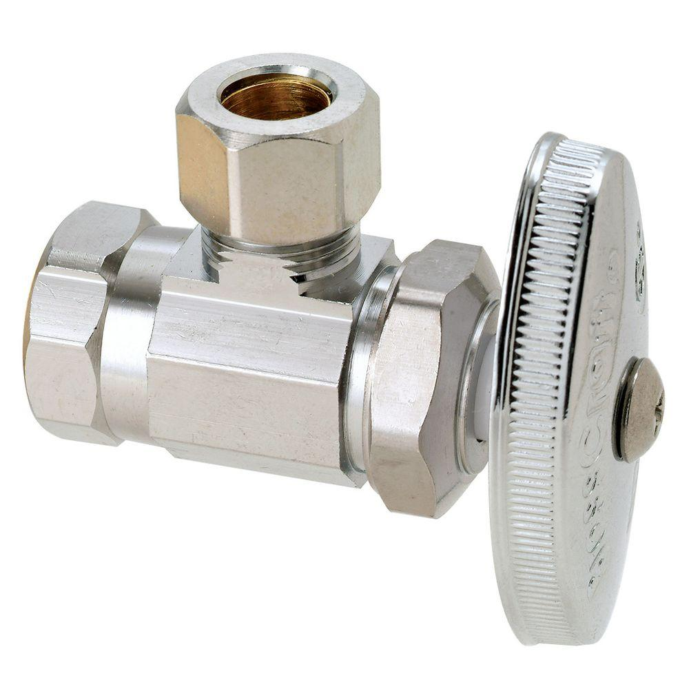 Brasscraft 3 8 In Fip Inlet X 3 8 In O D Compression Outlet Brass Multi Turn Angle Valve 5 Pack Or15x Cm Chrome Plating Polished Nickel Plumbing Fixtures