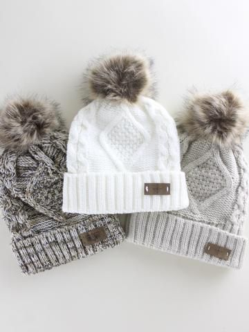 Pick out your perfect winter accessory. Love these cozy and warm winter hats. Winter outfit || Beanie || Winter fashion || Ski vacation