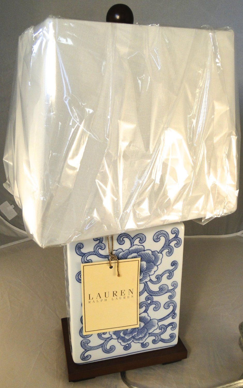 ralph lauren mandarin floral mandarin blue u0026 white traditional porcelain ceramic table lamp
