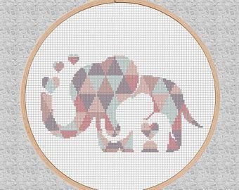 baby cross stitch pattern pdf elephant nursery art animals. Black Bedroom Furniture Sets. Home Design Ideas